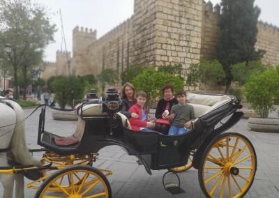 Ruta guiada en coche de caballo